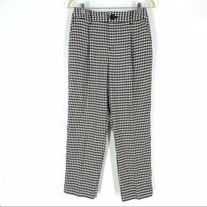 Who What Wear Black White Houndstooth Crop Pants 4